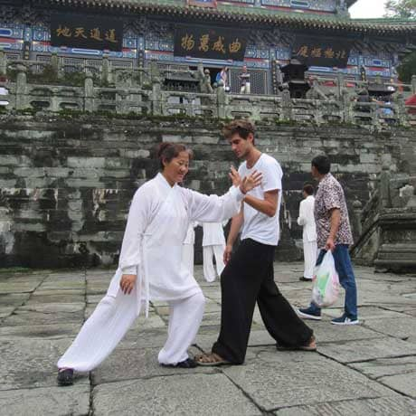 Qigon instructor practicing in thailand